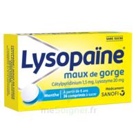 LYSOPAÏNE Comprimés à sucer maux de gorge sans sucre 2T/18 à Lherm