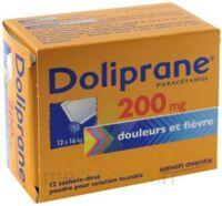 Doliprane 200 Mg Poudre Pour Solution Buvable En Sachet-dose B/12 à Lherm