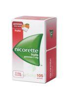 Nicorette 2 mg Gomme à mâcher médicamenteuse sans sucre fruits Plq/105 à Lherm