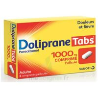 DOLIPRANETABS 1000 mg Comprimés pelliculés Plq/8 à Lherm