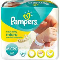 PAMPERS COUCHES NEW BABY MICRO 1-2,5 KG x 24 à Lherm