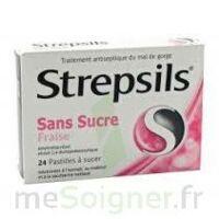 STREPSILS FRAISE SANS SUCRE, pastille édulcorée à l'isomalt, au maltitol et à la saccharine sodique à Lherm