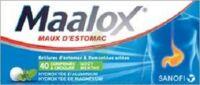 MAALOX HYDROXYDE D'ALUMINIUM/HYDROXYDE DE MAGNESIUM 400 mg/400 mg Cpr à croquer maux d'estomac Plq/40 à Lherm