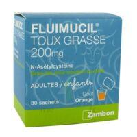 FLUIMUCIL EXPECTORANT ACETYLCYSTEINE 200 mg SANS SUCRE, granulés pour solution buvable en sachet édulcorés à l'aspartam et au sorbitol à Lherm