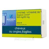 CYSTINE/VITAMINE B6 BIOGARAN CONSEIL 500 mg/50 mg Cpr pell Plq/120 à Lherm