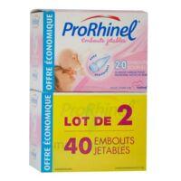 PRORHINEL Lot de 2 x 20 Embouts Jetables Souples pour Mouche Bébé à Lherm