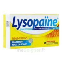 LYSOPAÏNE MAUX DE GORGE CETYLPYRIDINIUM LYSOZYME MIEL CITRON SANS SUCRE, comprimé à sucer édulcoré au sorbitol et à la saccharine à Lherm