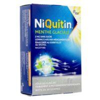NIQUITIN 2 mg Gom à mâcher médic menthe glaciale sans sucre Plq PVC/PVDC/Alu/30 à Lherm