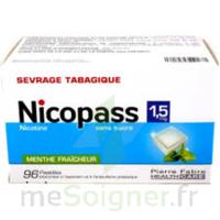 Nicopass 1,5 Mg Pastille Sans Sucre Menthe Fraîcheur Plq/96 à Lherm
