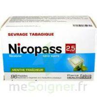 Nicopass 2,5 Mg Pastille Menthe Fraîcheur Sans Sucre Plq/96 à Lherm