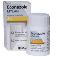 ECONAZOLE MYLAN 1 % Pdr appl cut Fl/30g à Lherm