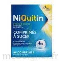 NIQUITIN MENTHE DOUCE 4 mg SANS SUCRE, comprimé à sucer édulcoré à l'aspartam à Lherm