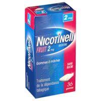 NICOTINELL FRUIT 2 mg SANS SUCRE, gomme à mâcher médicamenteuse Plaq/36gom à Lherm