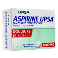 Aspirine Upsa Tamponnee Effervescente 1000 Mg, Comprimé Effervescent à Lherm