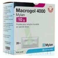 MACROGOL 4000 MYLAN 10 g, poudre pour solution buvable en sachet-dose à Lherm