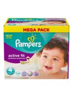 PAMPERS COUCHES ACTIVE FIT TAILLE 4 7-18 KG X 78 à Lherm