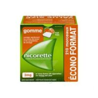 Nicorette 2 Mg Gomme à Mâcher Médicamenteuse Sans Sucre Fruits Plq/210 à Lherm
