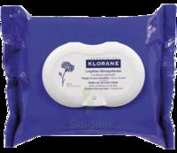 Klorane Soins des Yeux au Bleuet Lingette démaquillante biodégradable Pack/25 à Lherm