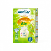 Modilac Céréales Farine 5 Céréales bio à partir de 6 mois B/230g à Lherm