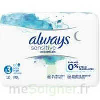 Always Serviettes Sensitives Essentials - Nuit à Lherm