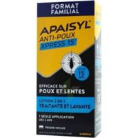 Apaisyl Anti-poux Xpress 15' Lotion antipoux et lente 100ml+peigne à Lherm