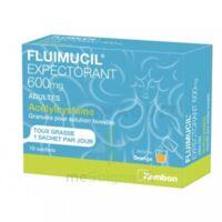 FLUIMUCIL EXPECTORANT ACETYLCYSTEINE 600 mg Glé s buv adultes 10Sach à Lherm