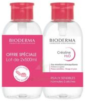 CREALINE H2O Solution micellaire nettoyante apaisante sans parfum 2Fl pompe inversée/500ml à Lherm